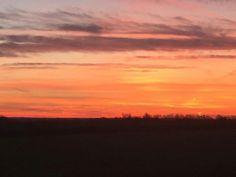 Sunrise in Tamworth . Birmingham. ..