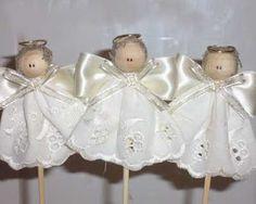 angelitos centro de mesa, ideal para bautismos