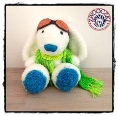 White crochet bunny by Zwooczki on Etsy