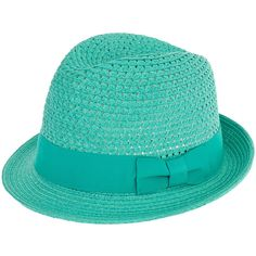 Christys' Hats Womens Mint Lovell Croqueted Trilby Hat ($53) ❤ liked on Polyvore