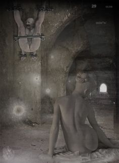"""Cassiope | Transitus a latere"" [Genius Loci - slab2/5] 2016 © [Mazareno] ominimedial-digitalfrottage-photomanipulation [proportions 1,37:1] #mixmedia #photomanipulation #glitch #photography #drawing #graphic #painting #digitalart #omnimedia #inkjet #fresco #esotericism #mythology #symbolism  #abandoned #geniusloci #Lascaux #Bartonini #Dionysus #initiation #ritual #epos #noumenon #phenomenon #alchemy #science #astrology #Mediterranean #labyrinth #cave #arcane #beast #man #god #soul #love…"