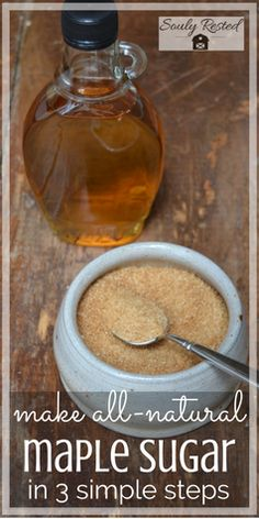How to Make Maple Sugar in Your Own Kitchen | all-natural sugar | DIY sugar | sustainable living | homesteading | farm to table | living simply | soulyrested.com