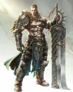 Human Male Fighter Warrior - Pathfinder PFRPG DND D&D d20 fantasy