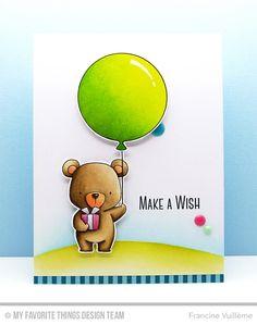 Beary Special Birthday Stamp Set and Die-namics, Big Birthday Balloons Die-namics, Celebrate With Cake Stamp Set - Francine Vuillème  #mftstamps