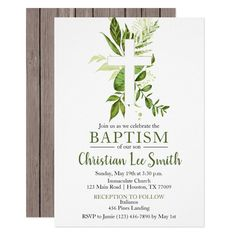 Girl Christening Decorations, Baptism Themes, Baptism Ideas, Baptism Invitation For Boys, Christening Invitations, Zazzle Invitations, Party Invitations, Baby Boy Baptism, First Holy Communion
