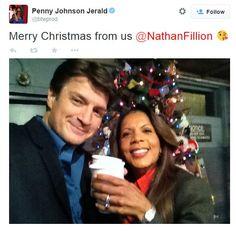 Nathan Fillion and Penny Johnson Jerald