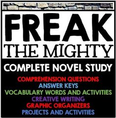 freak the mighty response to literature Freak the mighty questions and answers - discover the enotescom community of teachers, mentors and students just like you that can answer any question you .