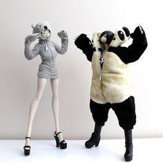 3ALegion feature: The World Of Isobelle Pascha   Ohala Bear Pascha and Juicy Racing Miyu (wearing Adventure Kartel   Panda Merc One: Handsome Wu suit), photographed by IronChap (http://instagram.com/ironchap).  #threeA #AshleyWood #WorldOf3A #WO3A #WOIP #AdventureKartel #3ALegion