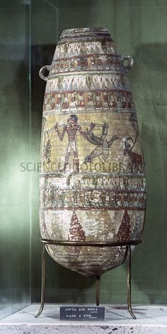 Ancient Egyptian wine vessel. This clay vessel dates to the middle of the 2nd millennium BC.
