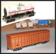 Several Railway Paper Models Free Templates Download - http://www.papercraftsquare.com/several-railway-paper-models-free-templates-download.html