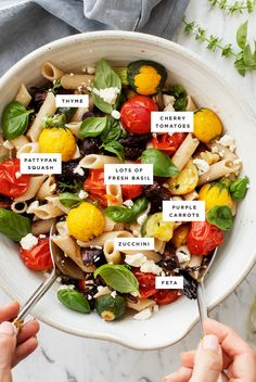 Many-Veggie Roasted Vegetable Pasta Is The Ultimate Healthy Dinner. Stacked With Veggies and Fresh Herbs And Tossed In A Tangy Vinaigrette, It's Delicious And Incredibly Flexible - Swap In Whatever Veggies You Have On Hand Love And Lemons Vegetable Pasta Recipes, Roasted Vegetable Pasta, Roasted Vegetables, Vegetarian Recipes, Veggies, Chickpea Recipes, Lentil Recipes, Healthy Recipes, Avocado Recipes