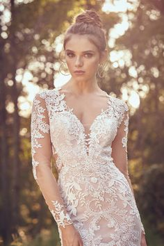 Lillian West - Style Laser Cut and Venice Lace Fit and Flare Dress V Neck Wedding Dress, Dream Wedding Dresses, Designer Wedding Dresses, Bridal Dresses, Wedding Gowns, Prom Dresses, Lillian West, Allure Bridals, Fit And Flair