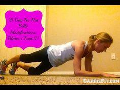 21 Day Fix Modifications for Diastasis Recti: Pilates Part 2 - YouTube