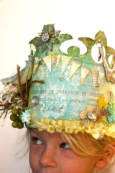 Birthday crown...it was a tradition in my family growing up that we had birthday crowns.  so fun!