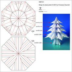 Abete 3 - Fir tree 3 ,Crease Pattern. (Francesco guarnieri)