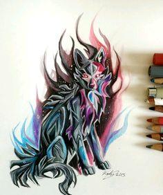 Dark colours wolf