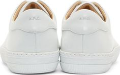 White Matte Leather Steffi Sneakers