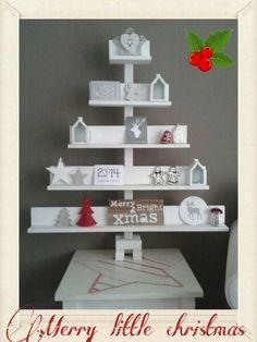 Houten kerstboom Christmas Decorations, Holiday Decor, Advent Calendar, December, Merry, Xmas, Shelves, Decorating, Winter