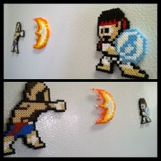 Sagat and Ryu perler beads by VoxelPerlers on deviantART