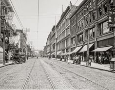 Knoxville Tennessee Gay Street Photo, Historical Knoxville, Wall Art, Home Decor, Knoxville TN Print, Black White, Gay Street, 1910