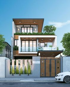66 Beautiful Modern House Designs Ideas - Tips to Choosing Modern House Plans ? 66 Beautiful Modern House Designs Ideas - Tips to. 3 Storey House Design, Duplex House Design, Townhouse Designs, House Front Design, Small House Design, Best Modern House Design, Villa Design, Design City, Mo Design