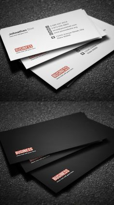 Business Cards Design: Amazing Examples to Inspire You - 11 Minimal Business Card, Business Card Psd, Simple Business Cards, Custom Business Cards, Professional Business Cards, Business Card Design, Name Card Design, Bussiness Card, Cleaning Business Cards
