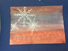 Lumihiutale: vesiväri ja vahaliitu