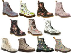"""Dr. Martens ( flowers )"" I uses to LOVE my Boots...wish they had these designs when I used to wear them!"