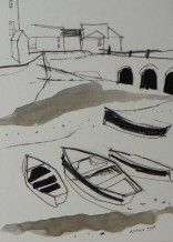 Richard Tuff - Three Arches, Four Boats
