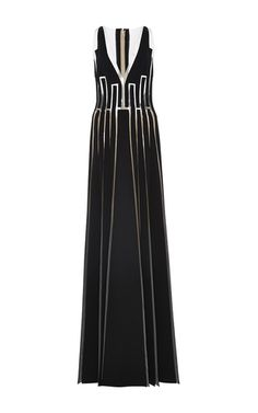 Illusion Seam Design Dress by CAROLINA HERRERA