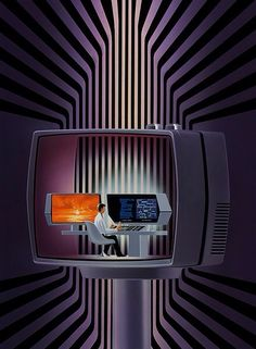 70s sci-fi art: boomerstarkiller67: The Future - art by Shusei...