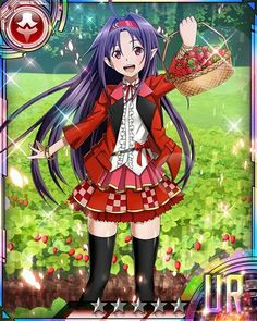 Yuuki Konno card Sword Art Online Yuuki, Sao Characters, Online Cards, Detective Conan Wallpapers, Fan Anime, Online Anime, Cosplay, Kirito, Anime Art Girl