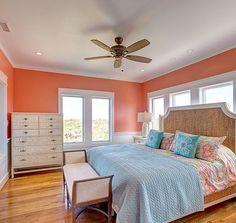 Bonzer Beach House In 2019 Green Bedroom Design, Bedroom Green, White Wall Art, White Walls, Bedroom Themes, Bedroom Wall, Coastal Bedrooms, Master Bedrooms, Mermaid Bedroom