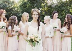 Bridesmaid dresses: ASOS - Inspired by This Pastel Backyard Wedding captured by Alixann Loosle - via inspiredbythis