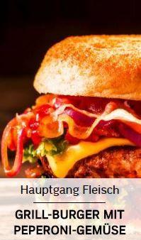 Selbstgemachte Hamburger vom Grill
