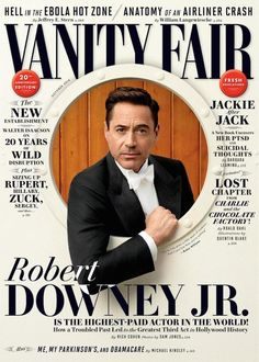 Vanity Fair magazine Robert Downey Jr Ebola Jackie Kennedy New establishment Magazine Design, Graphic Design Magazine, Robert Downey Jr., Susan Downey, Editorial Layout, Editorial Design, Web Design, Typographie Fonts, Vanity Fair Magazine