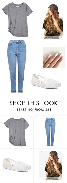 Halooo by altxya on Polyvore featuring Topshop, TOMS and Reclaimed Vintage