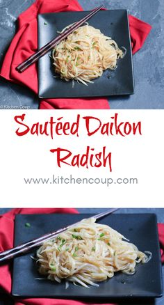 This Sautéed Daikon Radish dish is easy, tasty and so healthy. It's a perfect side if you are serving terikayi chicken or salmon. Side Dish Recipes, Vegetable Recipes, Asian Recipes, New Recipes, Favorite Recipes, Healthy Recipes, Weekly Recipes, Side Dishes, Dinner Recipes
