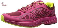 Salomon  Sonic Aero W, Sneakers trail-running femme - rouge - Rouge (Tibetan Red/Sangria/Lime Punch), 44 EU - Chaussures salomon (*Partner-Link)