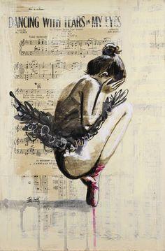 "Painting, ""Dancing with Tears in my Eyes (orig… Saatchi Art Artist Sara Riches; Painting, ""Dancing with Tears in my Eyes (original SOLD)"" Ballet Drawings, Dancing Drawings, Art Drawings, Drawing Art, Bailarina Vintage, Ballerina Kunst, Ballerina Painting, Ballerina Tattoo, Gcse Art Sketchbook"