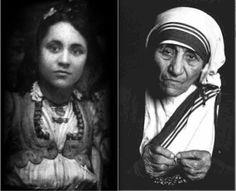 madre teresa de calcuta en distintas edades