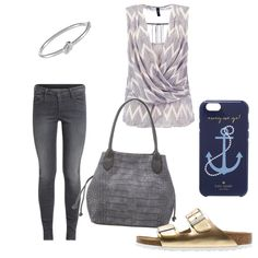 OneOutfitPerDay 2016-08-29 - #ootd #outfit #fashion #oneoutfitperday #fashionblogger #fashionbloggerde #frauenoutfit #herbstoutfit - Frauen Outfit Outfit des Tages Sommer Outfit Armband Birkenstock Gabor Gold Handtasche Handyhülle Handytasche Jeans kate spade new york Pantolette Pepe Pepe Jeans Schwarz Skinny Tasche Top YAS