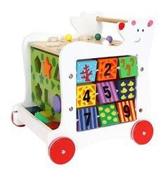 NEW-Wooden-Baby-Bear-Walker-Shape-Sorter-Activity-Toy