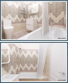 Пример создания аккуратной ванной комнаты на маленькой площади. Размер помещения 3,5 кв.м. используемая плитка Kerama Marazzi индийской коллекции Кашмир. Мебель, раковина и зеркало из Икеа. Душевой набор и смеситель производства Grohe. Дизайн проект ванной комнаты в новостройке в городе Балашиха. #интерьердизайна #интерьер #дизайн #3dmax #vray #interiordesign #interior #design #дизайнинтерьера #дизайнквартиры #дизайнпроект #ванна #bathroom #home #keramamarazzi