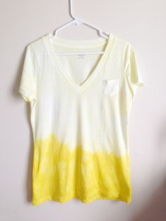 Dip dye shirt DIY Do this but make look better with our unique designs