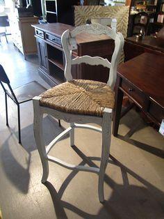 Country French mahogany rush seat barstool $136 (BR qty:1/NOLA qty: