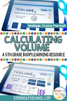 Are your fifth grade students learning how to calculate volume? These 5th grade math Boom cards are a great way to get your upper elementary math students calculating volume in a fun and engaging way. This resource is great for 5th grade distance learning, as it is a digital math resource! #5thgrademath #5thgradedistancelearning #mathdistancelearning #calculatingvolume #volume