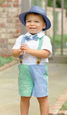 Suspenders and a Bowtie? Too freaking cute!