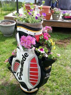 Flower golf bag