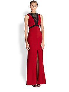 ABS Contrast Bandage Gown